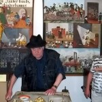 Frieder als Leierkastenmann im Musikkabinett in Rüdesheim