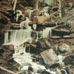 Heslacher Wasserfälle - auf einer Postkarte von 1904