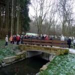 Die neue Brücke über die Körsch