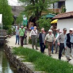 Bei der Stadtführung entlang der Seckach
