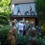 Im Garten von Prof. Nuss