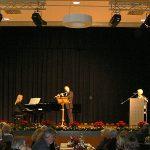 Den festlichen Rahmen der Feier gestalten Ildiko Häfner (Klavier) und Stephan Bethäuser (Querflöte und Saxophon)