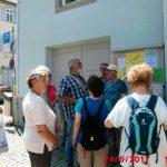 Start der Wanderung am Rathaus Möhringen [Foto: M. Trappe]